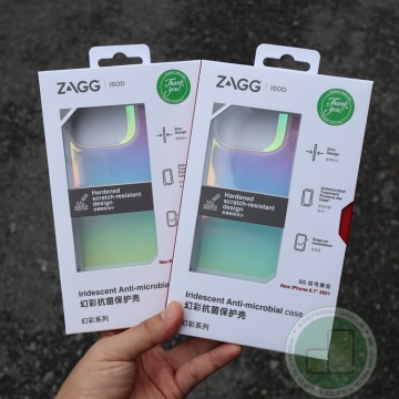 Ốp chống sốc iPhone 13 Promax - Zagg Iridescent Cầu vồng